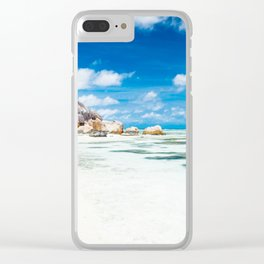 Paradise in Seychelles Clear iPhone Case