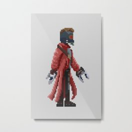 Star Lord Pixelated Metal Print