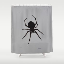Orb Weaver Silhouette Shower Curtain