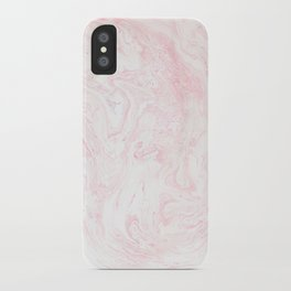 Pink Rose Gold Marble Print iPhone Case
