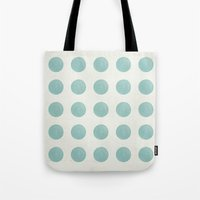 polka dots Tote Bags featuring Polka Dots by Juste Pixx Designs