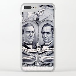 Vintage poster - 1876 Democratic Banner Clear iPhone Case