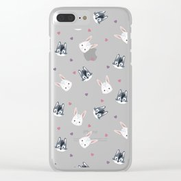 Bunny ^ Wolf Clear iPhone Case