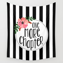 One More Chapter - Black Stripes Wall Tapestry