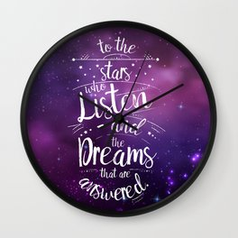 ACOMAF- To the Stars Who Listen And the Dreams that are Answered Wall Clock