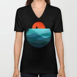 Deep blue ocean Unisex V-Neck