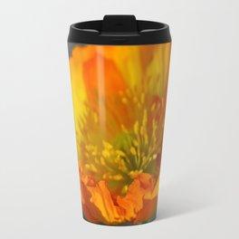 Orange Poppy in February 3 Travel Mug