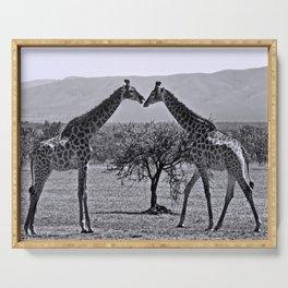 Giraffe talk Serving Tray