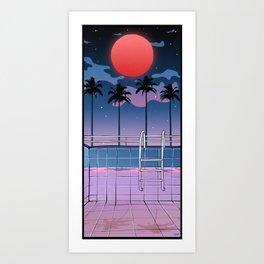 SOUTH BEACH PALMS Art Print