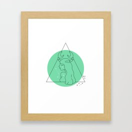 Cancer Sign Framed Art Print