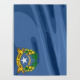 Nevada Fancy Flag Poster