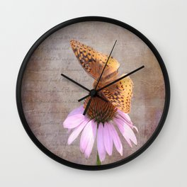 Butterfly and Flower Wall Clock
