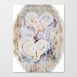 Winter Hearts Canvas Print