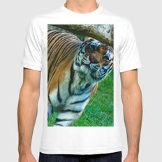 tiger 2 Mens Fitted Tee White MEDIUM