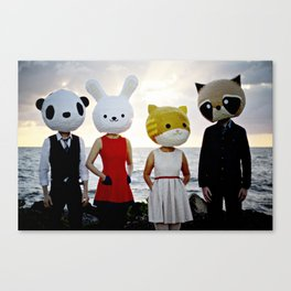 Dapper Animals Sunset Faces Canvas Print