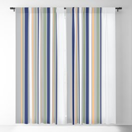 Barcode Love // Blues Blackout Curtain