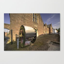 Tiverton waterwheel  Canvas Print
