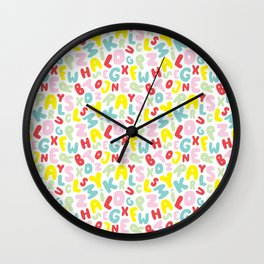 Crazy Letters for Jas Wall Clock
