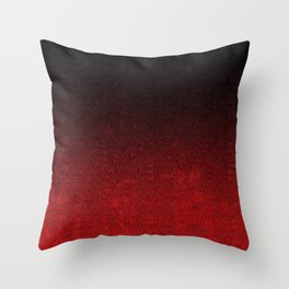 Red & Black Glitter Gradient Throw Pillow
