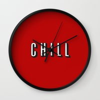 chill Wall Clocks featuring CHILL by I Love Decor