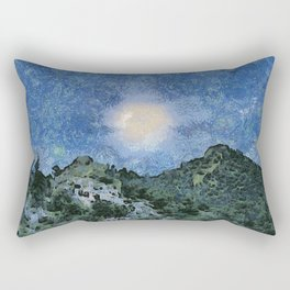 Starry Night Sunrise Rectangular Pillow