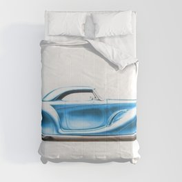 Vintage 1934 blue Packard Eight 2/4-Passenger Coupe Comforters
