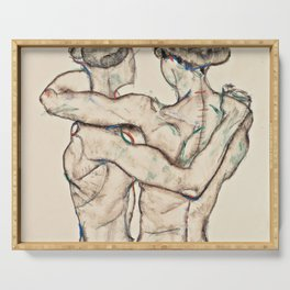 "Egon Schiele ""Naked Girls Embracing"" Serving Tray"