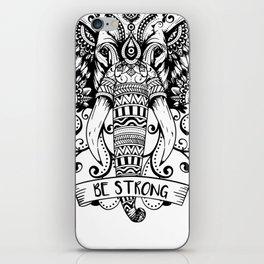 Giant Elephant Head sketch iPhone Skin