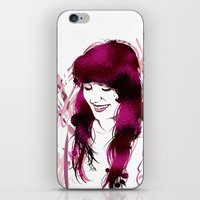amy poehler iPhone & iPod Skins featuring Amy by Abbi Laura