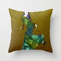 dress Throw Pillows featuring Favorite Dress by Stevyn Llewellyn