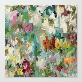 Abstract Flowers 1946 Canvas Print