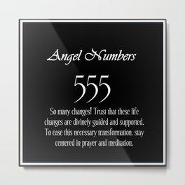 555 Angel Numbers Metal Print