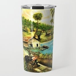 Classical African-American Masterpiece 'On Mississippi River' Travel Mug