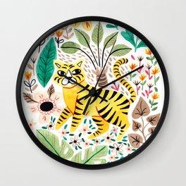Tiger Jungle Wall Clock