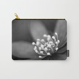 Blue spring flower Hepatica in bw II Carry-All Pouch