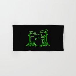 Neon Drum Kit Hand & Bath Towel