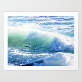 Laguna Winter Waves Art Print