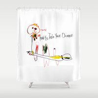 how to train your dragon Shower Curtains featuring How to Train Your Dragon by tatiana-teni