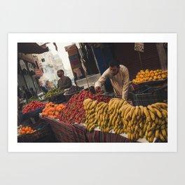 Fruit Stalls Art Print