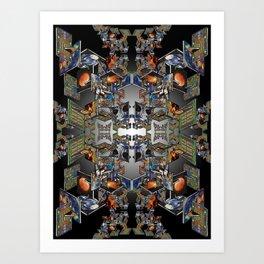 Framework: Fractal Journey Art Print