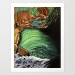 Over the falls Art Print