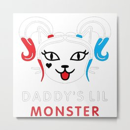 Daddy's lil monster, Harley Quinn Metal Print