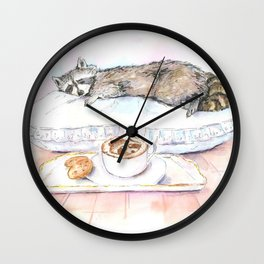 Sleeping Racoon Wall Clock