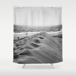 Walking the beach NO1 Shower Curtain