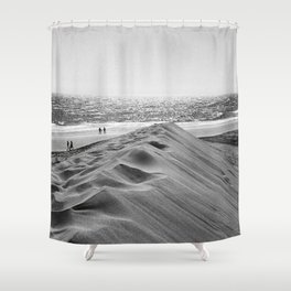 Walking the beach NO1 Shower Curtain