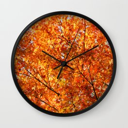 Autumn foliage Wall Clock