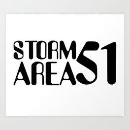 Storm Area 51 Art Print
