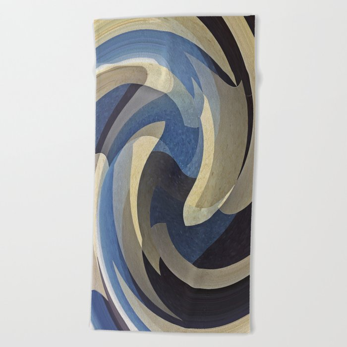 Bluetan Swirl Beach Towel