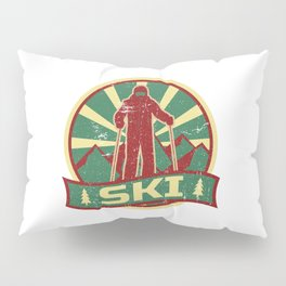Ski Propaganda | Winter Sports Pillow Sham