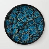 succulents Wall Clocks featuring Succulents by Kim Bajorek